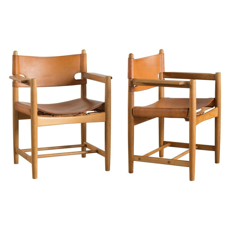 Børge Mogensen Two Armchairs for Fredericia Furniture For Sale