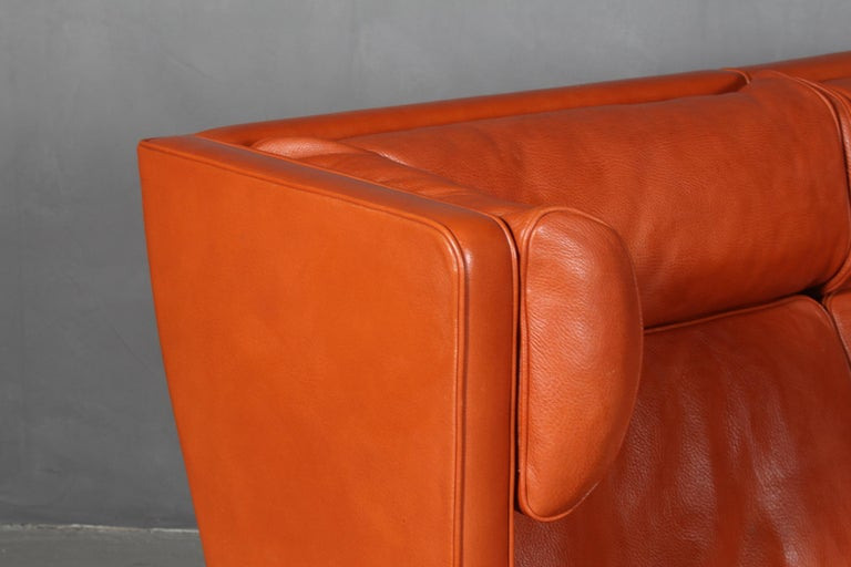 Scandinavian Modern Børge Mogensen Two-Seat Kupé Sofa For Sale