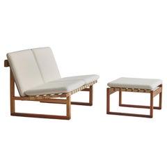 """Børge Mogensen Two-Seater """"Model 211"""" Oak Sofa for Fredericia Stolefabrik, 1956"""
