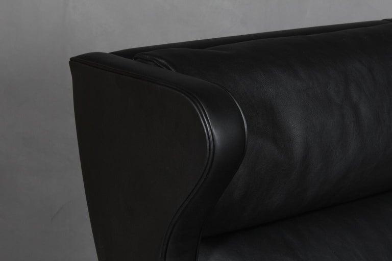 Scandinavian Modern Børge Mogensen Wingback Chair For Sale