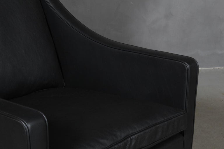Børge Mogensen Wingback Chair In Excellent Condition For Sale In Esbjerg, DK