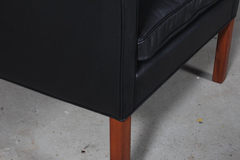 Leather Børge Mogensen Wingback Chair For Sale