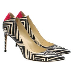 Brian Atwood Geometric Snake Skin Leather Pumps	39 (IT)