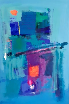Avalon Dawn - contemporary abstract colourful acrylic painting