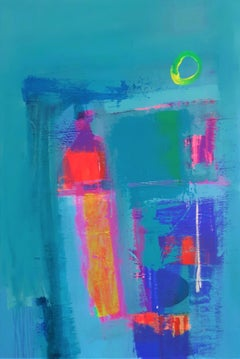 Avalon Dusk - contemporary bright colourful abstract acrylic painting