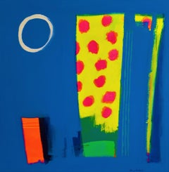 Once upon a Time - Colourful abstract art: acrylic on canvas