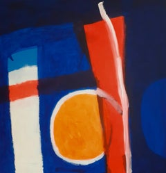 Portland Bill - contemporary abstract colourful bright acrylic painting