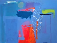 The Rite of Spring - contemporary bright colourful abstract acrylic painting
