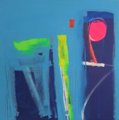 When in Rome - contemporary abstract colourful bright acrylic painting