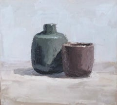 Cup with Jar on Table