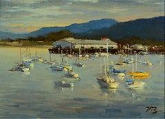 Brian Blood 'Monterey Bay' Plein Air California Impressionist Seascape Painting