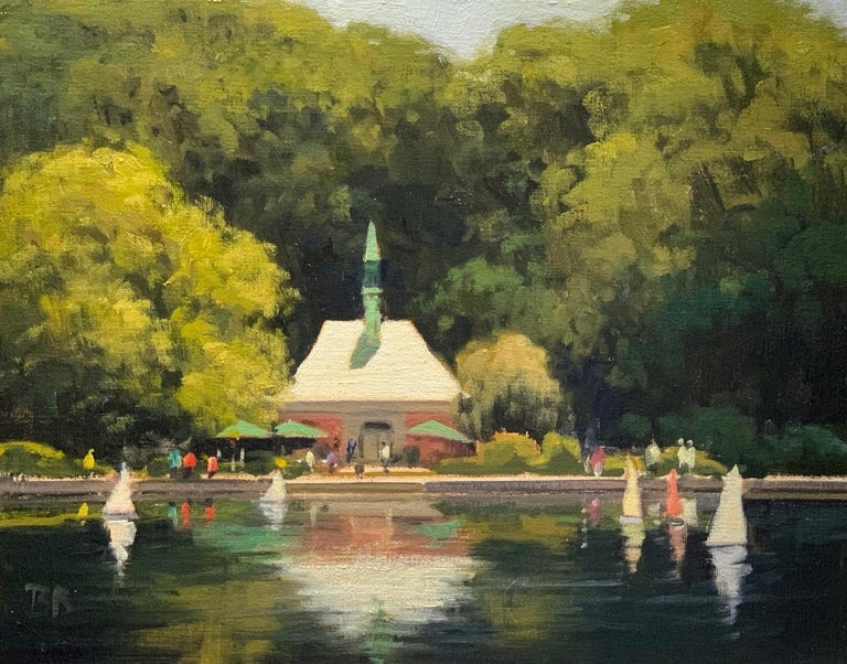 Kerbs Boathouse; NYC - Realist Painting by Brian Blood