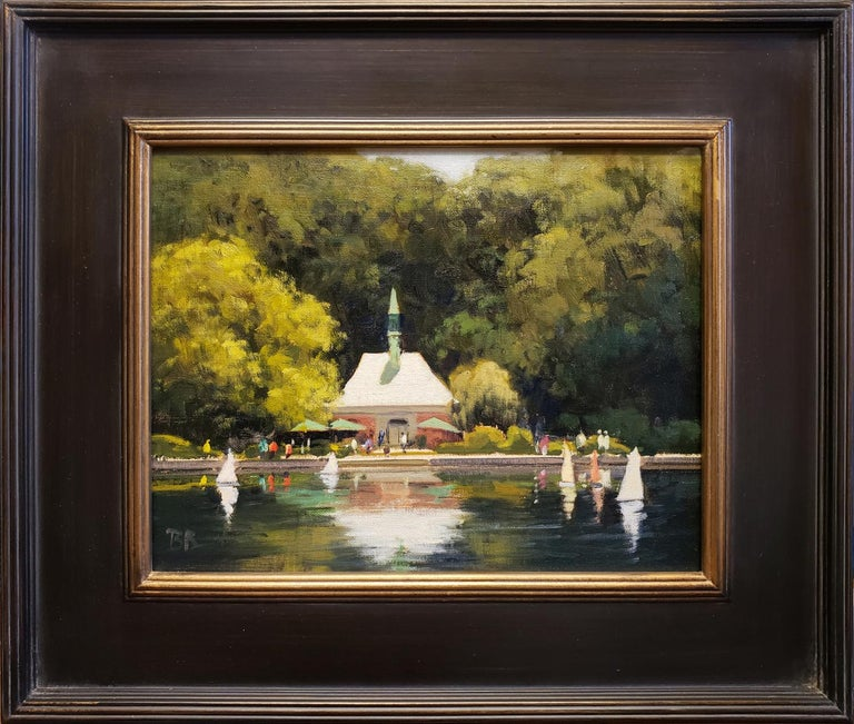 Kerbs Boathouse; NYC - Painting by Brian Blood