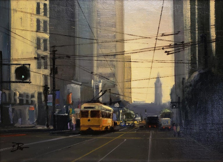 Morning on Market - Realist Painting by Brian Blood
