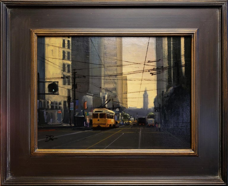 Morning on Market - Painting by Brian Blood