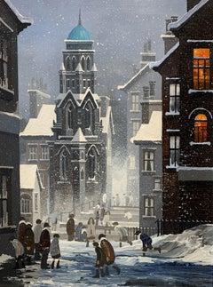 Snow Scene - Oil Painting by BRAAQ