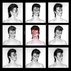 David Bowie - Aladdin Sane Eyes Open Demi Contact Sheet