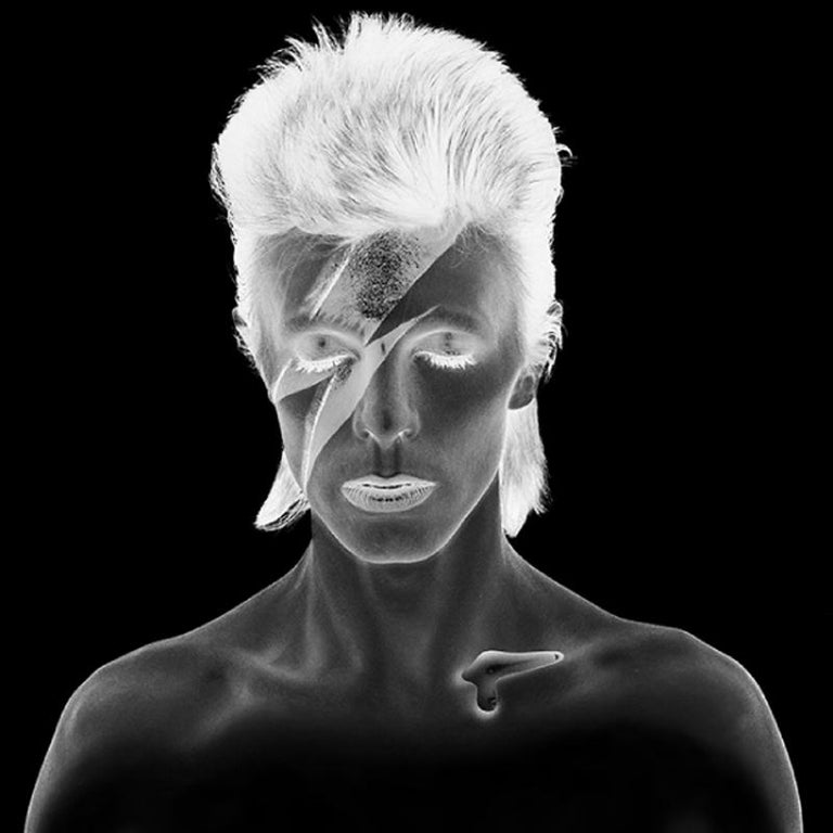 Brian Duffy Portrait Photograph - 'David Bowie Aladdin Sane - Black & White Neg Remaster - Limited Estate Edition