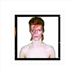 David Bowie, Aladdin Sane Eyes Open, 1973. Duffy Archive.