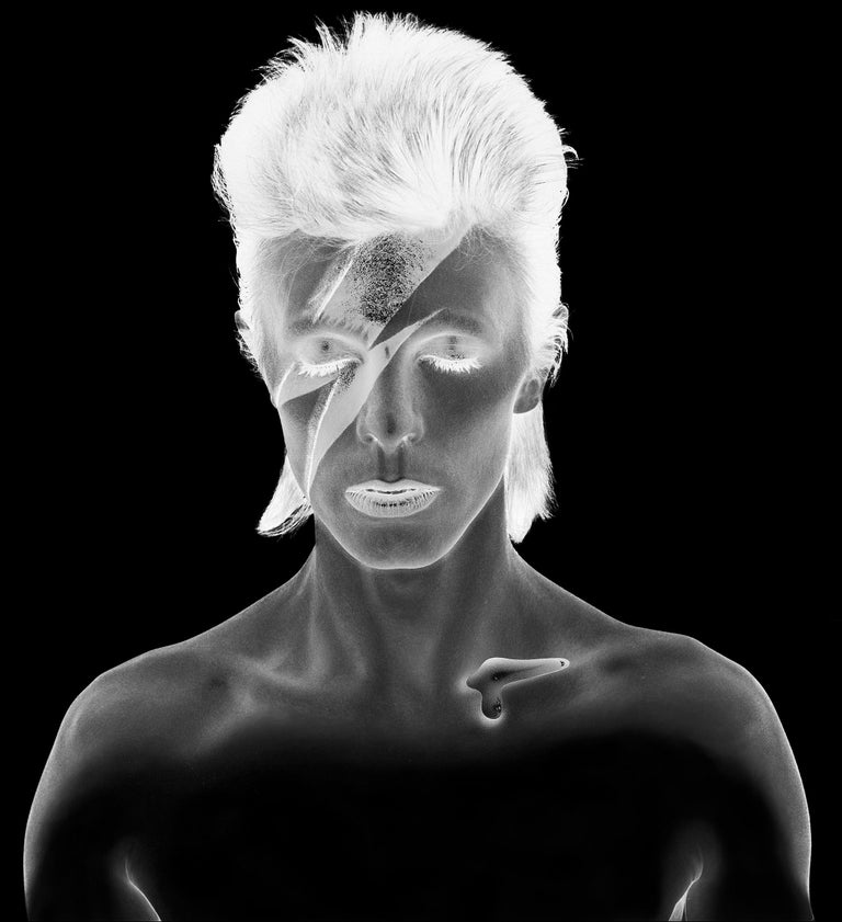 Brian Duffy Nude Photograph - Duffy - Aladdin Sane - David Bowie - original negative re-work edition