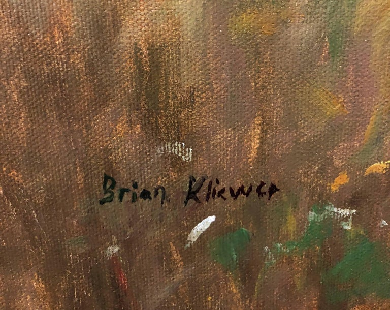 Frequent Fliers - Brown Landscape Painting by Brian Kliewer