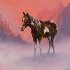 """""""Horse in Fog,"""" Oil Painting"""