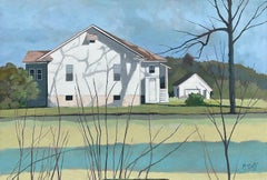 Country White House, Oil Painting
