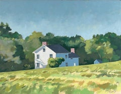 House in Field, Oil Painting