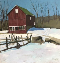 House in Winter, Oil Painting