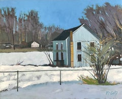 House with Chimney, Oil Painting