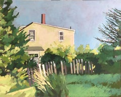 House with Gate, Oil Painting