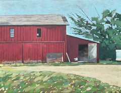 Red Barn, Oil Painting