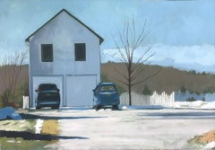 Two Cars, Oil Painting