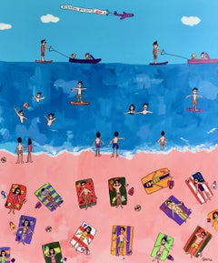 A day at the beach, Painting, Acrylic on Canvas