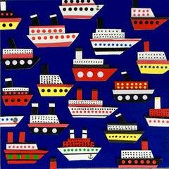 Atlantic Crossing, Painting, Acrylic on Wood Panel