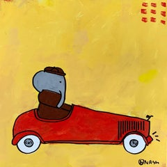 Babar Drives, Painting, Acrylic on Canvas