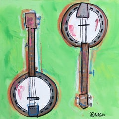 Banjos, Painting, Acrylic on Canvas