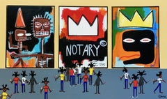 Basquiat in the house, Painting, Acrylic on Canvas