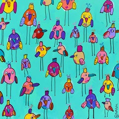 Bigger Birds, Painting, Acrylic on Canvas