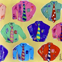 Button Down Shirts, Painting, Acrylic on Canvas