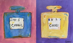 Chanel #5 Pour Deux, Painting, Acrylic on Canvas