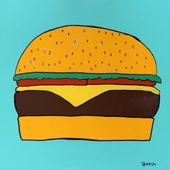 Cheeseburger in Paradise, Painting, Oil on Canvas