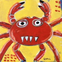 Crabby, Painting, Acrylic on Canvas