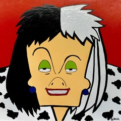 Cruella de Vil, Painting, Oil on Canvas