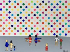 Damien's Dots, Painting, Acrylic on Canvas