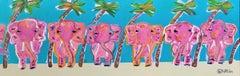 Elephants, Painting, Acrylic on Canvas