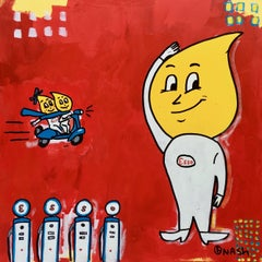 Esso Oil Drop Man, Painting, Acrylic on Canvas
