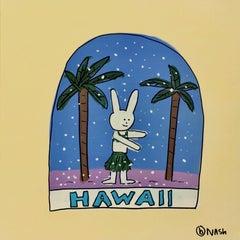 Hawaii Snow Globe, Painting, Acrylic on Canvas