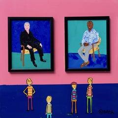 Hockney's Portraits, Painting, Acrylic on Wood Panel