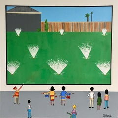 Hockney's Sprinklers, Painting, Acrylic on Canvas